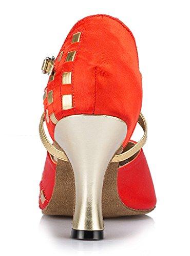 TDA ,  Damen Peep Toes 8cm Heel Red