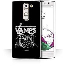 Oficial The Vamps Carcasa/Funda/Case dura para el LG G4c/H525N / serie: The Vamps Logotipo Banda Graffiti - Kit Batería