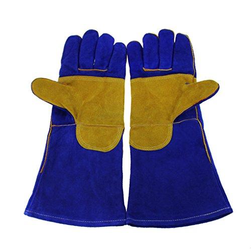 1 Paar Arbeitshandschuhe Sicherheitshandschuhe Schweißschutzhandschuhe Aus Leder Schnittfeste Küchen Handschuhe Hitzeschutz Handschuh Rutschfeste für Zuhause und (Adler Handschuhe)