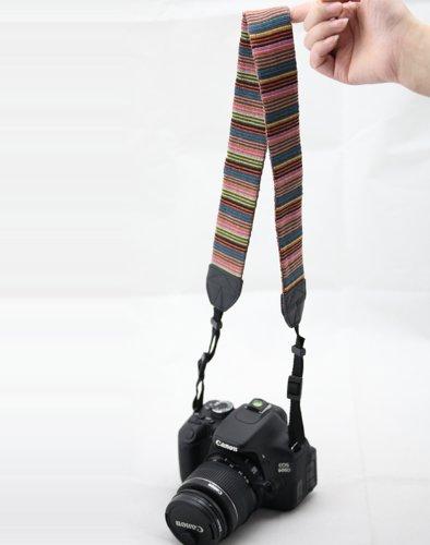 Beiuns universal weiche Farbstreifen Kameragurt Trageriemen Kamera Gurt Schulter Strap Belt Tragegurt Schultergurt Neck Gürtel für Einzel DSLR SLR Camera von Leica NIKON Sony Canon Olympus Pentax usw. - 5
