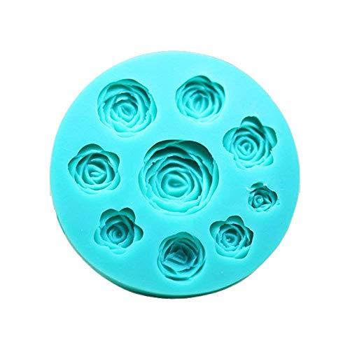 3D Rose Blume Silikon Schokolade Fondant Kuchen Kerze Seife Formen Formen (Schokoladenform Rose)