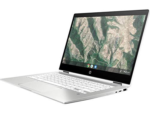 HP Chromebook 14b-ca0015TU x360 Thin and Light Touchscreen 14-inch HD Laptop (4GB/64GB SSD + 100 GB Cloud Storage/Chrome OS/Intel UHD Graphics), Natural Silver