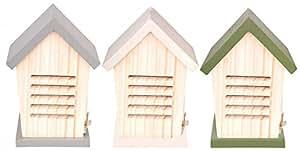 Esschert Design Marienkäferhaus, Nistkasten, sortiert, 1 Stück, ca. 15 cm x 13 cm x 21 cm