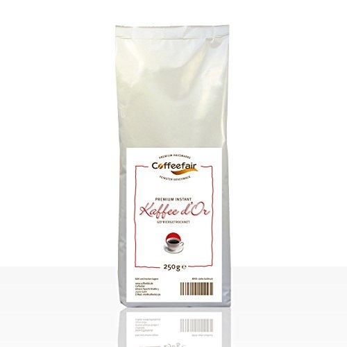 Instant-Kaffee für Kaffeevollautomaten | Coffeefair Premium d'Or 250g | 80% Robusta und 20% Arabica...