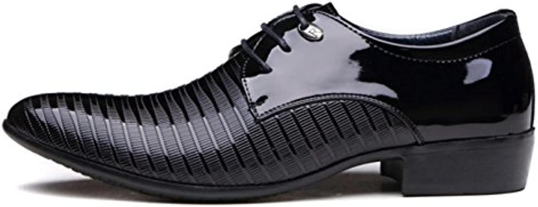 HYLM Männer Anzüge Schuhe britischen Business Casual Schuhe / spitze Spitze Hochzeit Schuhe schwarz große Größe
