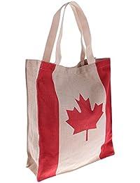 MagiDeal Eco-friendly Flag Design Easy Fold Shopping Tote Bag Canada