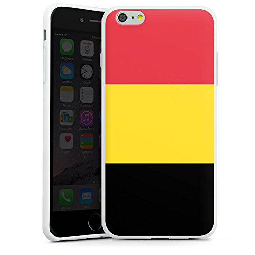 Apple iPhone X Silikon Hülle Case Schutzhülle Belgien Flagge Fußball Silikon Case weiß
