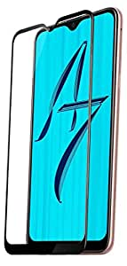 Knotyy Edge to Edge Curved Full Tempered Glass Screen Guard for Oppo A7 (Black)