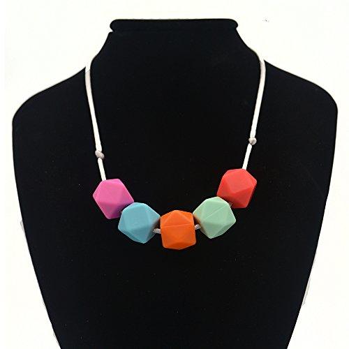 Preisvergleich Produktbild Baby Silikon Zahnen Halskette für Mama zu tragen (A)