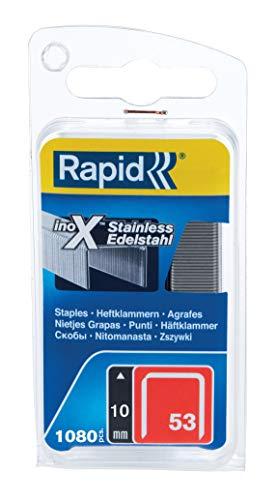 Rapid, 40109511, Agrafes en fil fin N°53, Longueur 10mm, 1080...