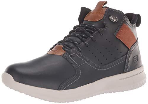Skechers Delson-Ortego, Zapatillas para Hombre, Negro (Black Blk), 46 EU