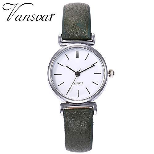 TianWlio Armbanduhren Damen Lässige Quarz Lederband Newv Armbanduhr Analoge Armbanduhr