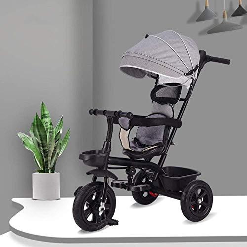 Kinderwagen 3 in 1 Kinderpedal-Dreirad 8 Monate bis 5 Jahre Hinterrad mit Bremse Kinderhand-Dreiradsitz kann verstellt werden Verstellbarer Griff Kind Trike Maximalgewicht 25 kg Dreirad ( Color : A )