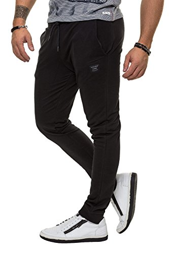 Jack & Jones Herren Trainingshose Sporthose Jogginghose Sweat Pants (M, Black)