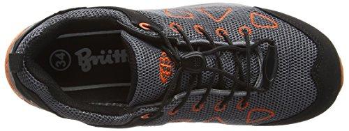 BruettingAtlanta - Scarpe da trekking e da passeggiata Bambino Grigio (Grau (grau/schwarz/orange))