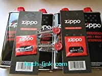 8 x Zippo Benzin + 2 x Zippo Flints + 2 x Zippo Wicks