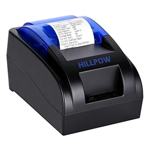 HILLPOW-Impresora Recibos 58mm ESC POS 90mm/segundo