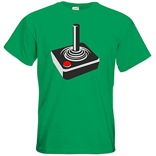 getshirts - Best of - T-Shirt - Retro Gaming - Retro Joystick Kelly Green