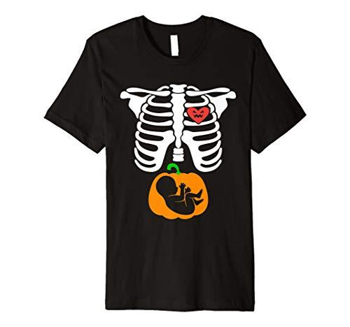 Schwangerschaft Ankündigung Halloween Kostüm T-Shirt