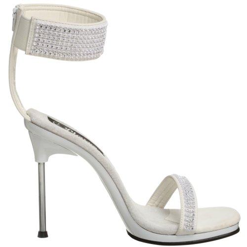 Pleaser  Chic 40,  Damen pumps bianco(Weiß)
