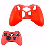 Microware Silicone Skin, Sleeve, Case, Cover for Xbox 360 Controller (Red)