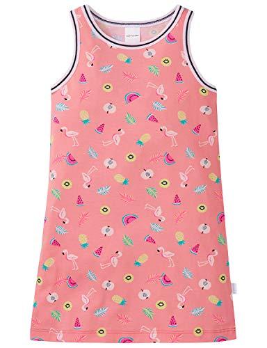 Schiesser Mädchen 0/0 Nachthemd, Gelb (Apricot 603), Herstellergröße: 128