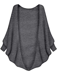 ZKOO Femmes Manches Chauve-souris Gilet Cardigan Tricote Manteau Veste Outwear Blouson Tops