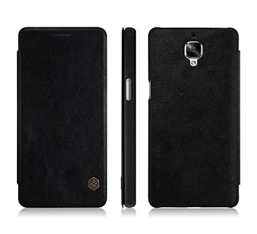 TopAce® Hochwertigem Flip Case / Hülle / Tasche/ Schutzhülle Für OnePlus 3 / OnePlus 3T (Schwarz)
