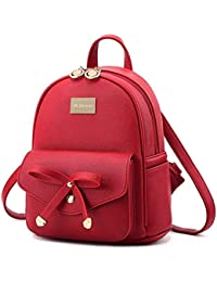 a96fa6ed7ac6 Alice Cute Mini PU Leather Backpack Fashion Small Daypacks Purse for Girls  and Women