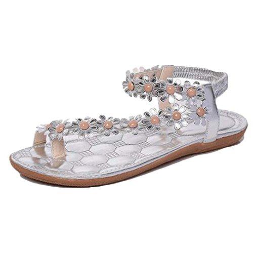 Ausverkauf Damen Gummi Sandalen Schwarz Weiß Silber Glitzer Sommer Strandschuhe