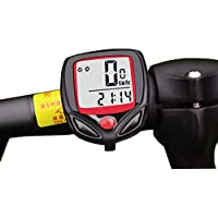 Mein HERZ Bicicleta Cuentakilómetros, 15 Funciones, para Medir la Velocidad de la Bicicleta, Kilometraje