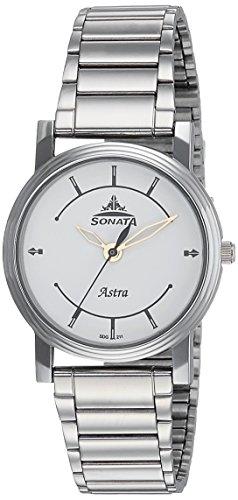 Sonata Analog White Dial Men's Watch-77056SM01J