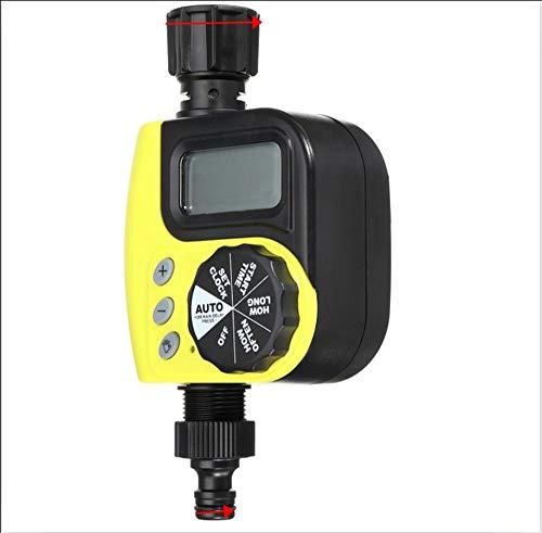 ZYYBRE Automatische BewäSserungssteuerung, Led-Anzeige, Wasseruhr Mit Magnetventil, Programmierbare Schlauchwasserhahnuhr FüR Den AußEnbereich - Dusche Lcd Uhr