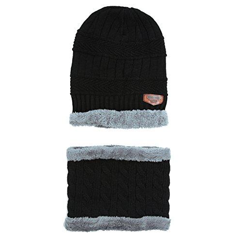 Domybest Unisex stricken Schal Cap Neck Warmer Winter Fleece Hüte Outdoor-Sport