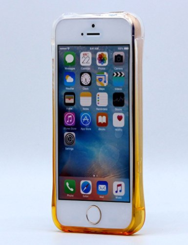 Coque pour iPhone 5S Antichoc, iPhone SE Housse,Hamyi Couleur de Dégradé [Air Cushion] [absorbant les chocs] [Anti-rayures] étui Souple pour Apple iPhone 5 et iPhone 5S et iPhone Se (Gris) Or