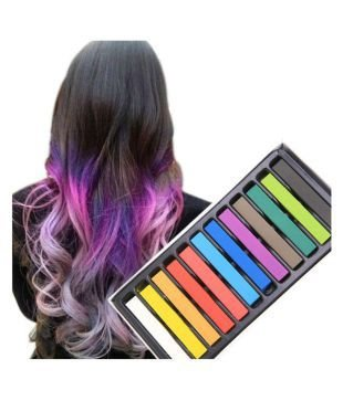 ShopNGift Hair Chalk Temporary Hair Color (12 Assorted Colors) UNISEX