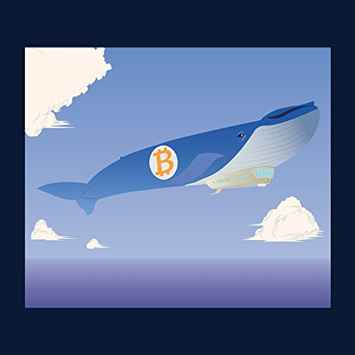 Bitcoin Air Whale Women's Sweatshirt Navy blue