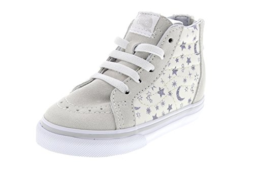 VANS Kinderschuhe - T SK8-HI ZIP - star glitter white, Größe:21 EU