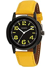 Frosino FRAC101835 Yellow Color Strap Analog Watch for Boys and Men