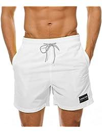 7d60e7ada97 MODCHOK Homme Shorts de Bain Plage Natation Bermuda Pant Court de Sport  Beach Séchage Rapide