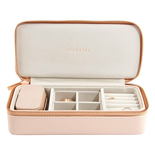 Stackers Blush Rosa Groß & Petite Travel Schmuck Box