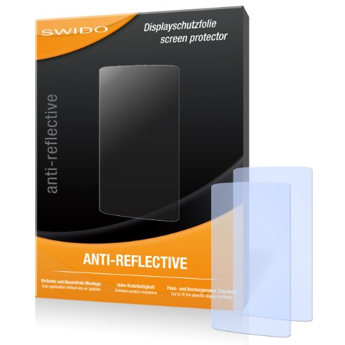 SWIDO X031768 antireflektierend hartbeschichtet Displayschutzfolie für HTC One X+/X Plus (2-er Pack)