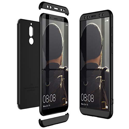 CE-Link Huawei Mate 10 Lite Hülle Hardcase 3 in 1 Handyhülle 360 Grad Hard Hartschale Grad Full Body Case Cover Schutzhülle Bumper - Schwarz