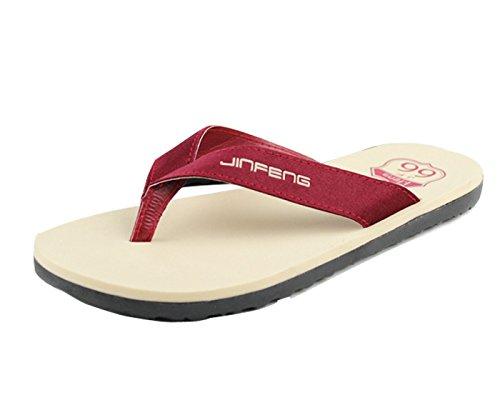 Gaorui Herren Hausschuhe Flip-Flops am Strand Pool Sandalen Zehensteg Sommer Schuhe? Rot