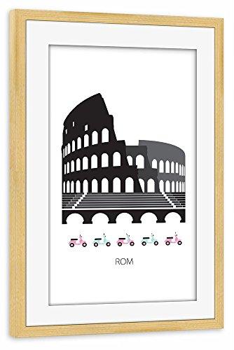 """Preisvergleich Produktbild artboxONE Poster mit Rahmen 30x20 cm Städte Städte / Rom Architektur """"Rom"""" schwarz Gerahmtes Poster kiefer - Wandbild Städte Städte / Rom Architektur Kunstdruck von Terhi Toersleff"""