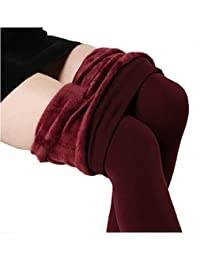 GOLDEN GIRL Women Woolen Warm Leggings with Thick Fur Lined (111101_Multicolor)