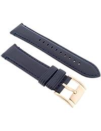 Fossil Uhrband Wechselarmband LB-ME3054 Original Ersatzband ME 3054 Uhrenarmband Leder 22 mm Schwarz
