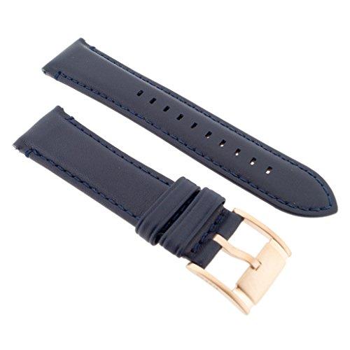Fossil Uhrenarmband 22mm Leder Blau Uhrband ME-3054 / LB-ME3054 (Fossil Uhrenarmbänder Für Frauen)