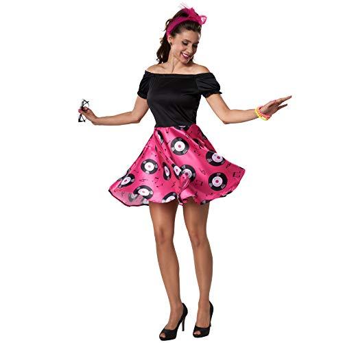 Hit Kostüm Für Erwachsene Girl - dressforfun 900469 - Damenkostüm DOO-Wop Girl, Knalliges 50er Jahre Kleid (S | Nr. 302145)