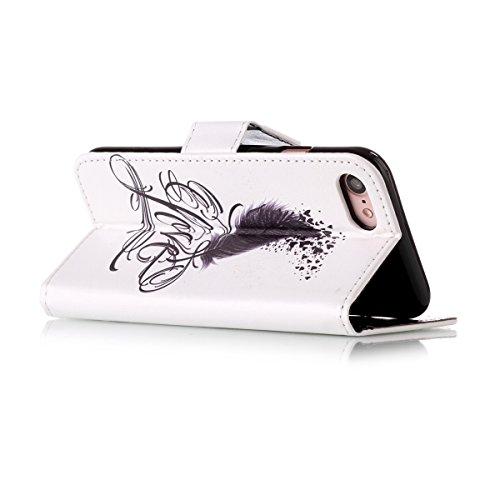 Etsue Custodia Per iPhone 7,Lusso Diamante Bling Sprkle Disegni Leather Pu Portafoglio Flip Cover Con Magnetica Stand Folio Elegante Bella Modello Per Raggze Donna Ultra Sottile Pelle Wallet Libro Pro Bella11